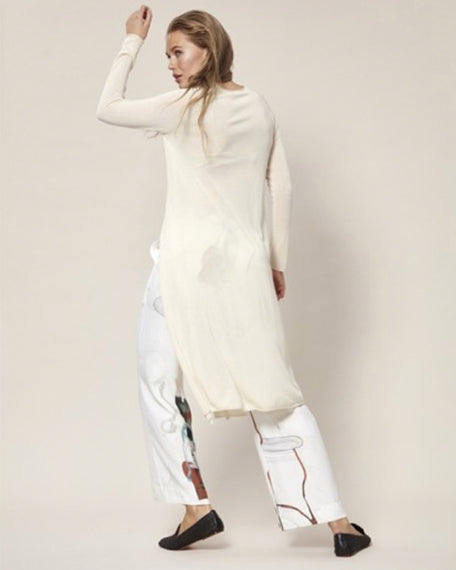 Knit Tunic With Side Slit | Ivory