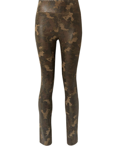 High Waist Leather Legging | Camo