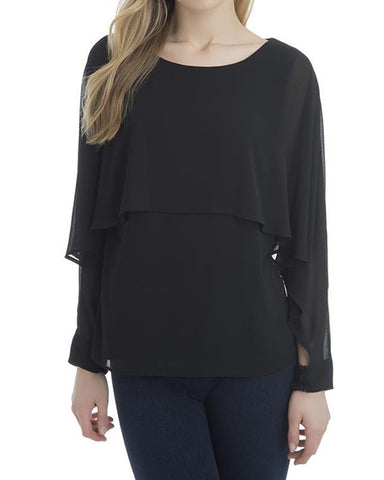 Cascade Blouse | Black
