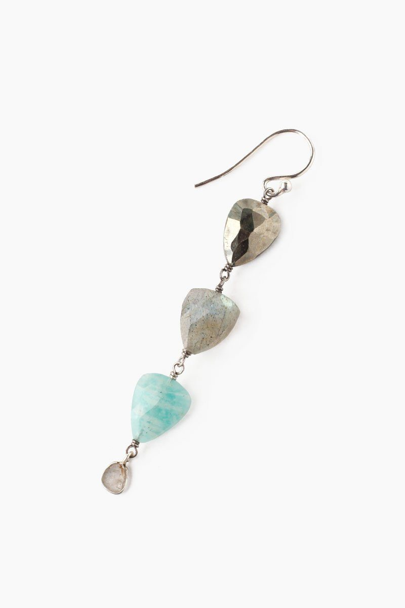 Tiered Amazonite Mix Earrings