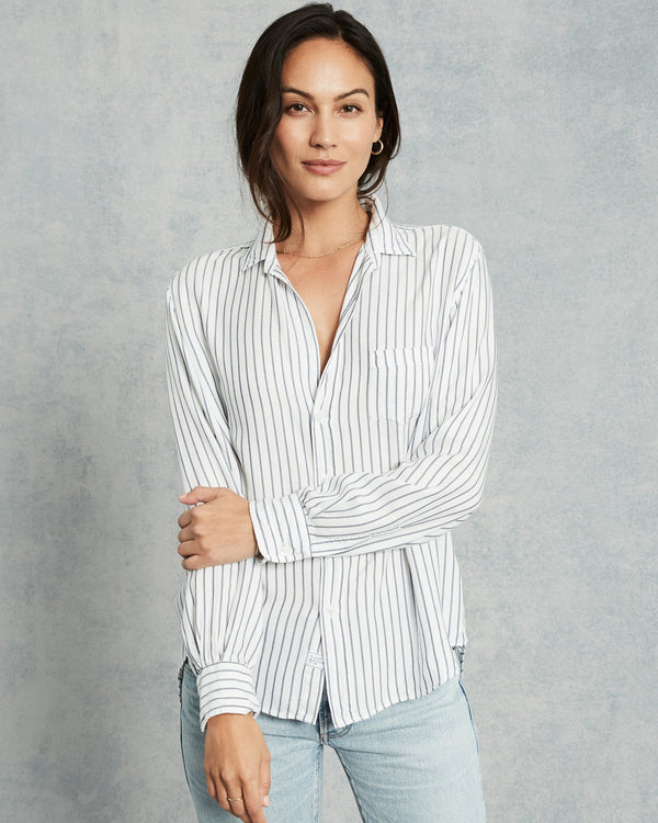 Eileen Modal Button Down | Blue Stripe