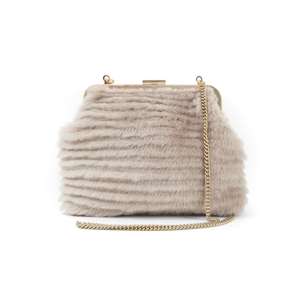 Flore Shearling Purse | Taupe