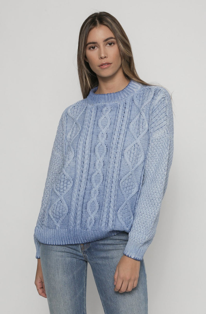 Cotton Birch Sweater | Marine