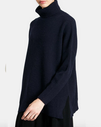 Harrison Merino Turtleneck | Navy