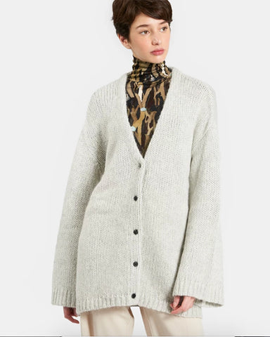Sybille Cardigan Sweater | Light Heather Grey