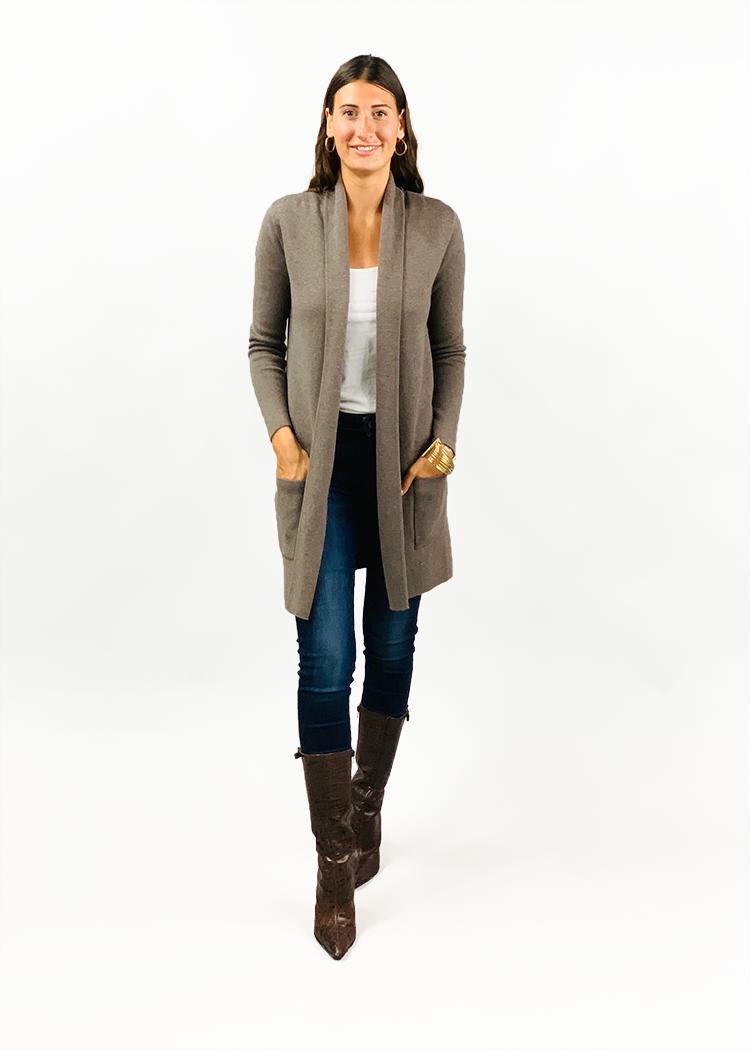 Lily Travel Coat | Iced Coffee