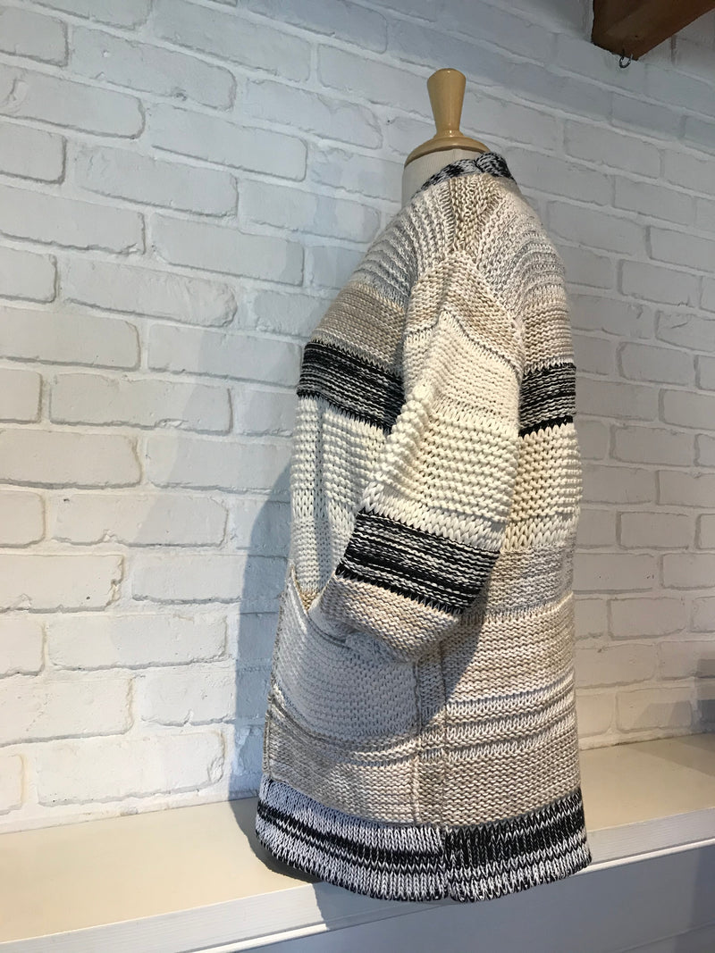 Cotton & Linen Pocket Cardigan