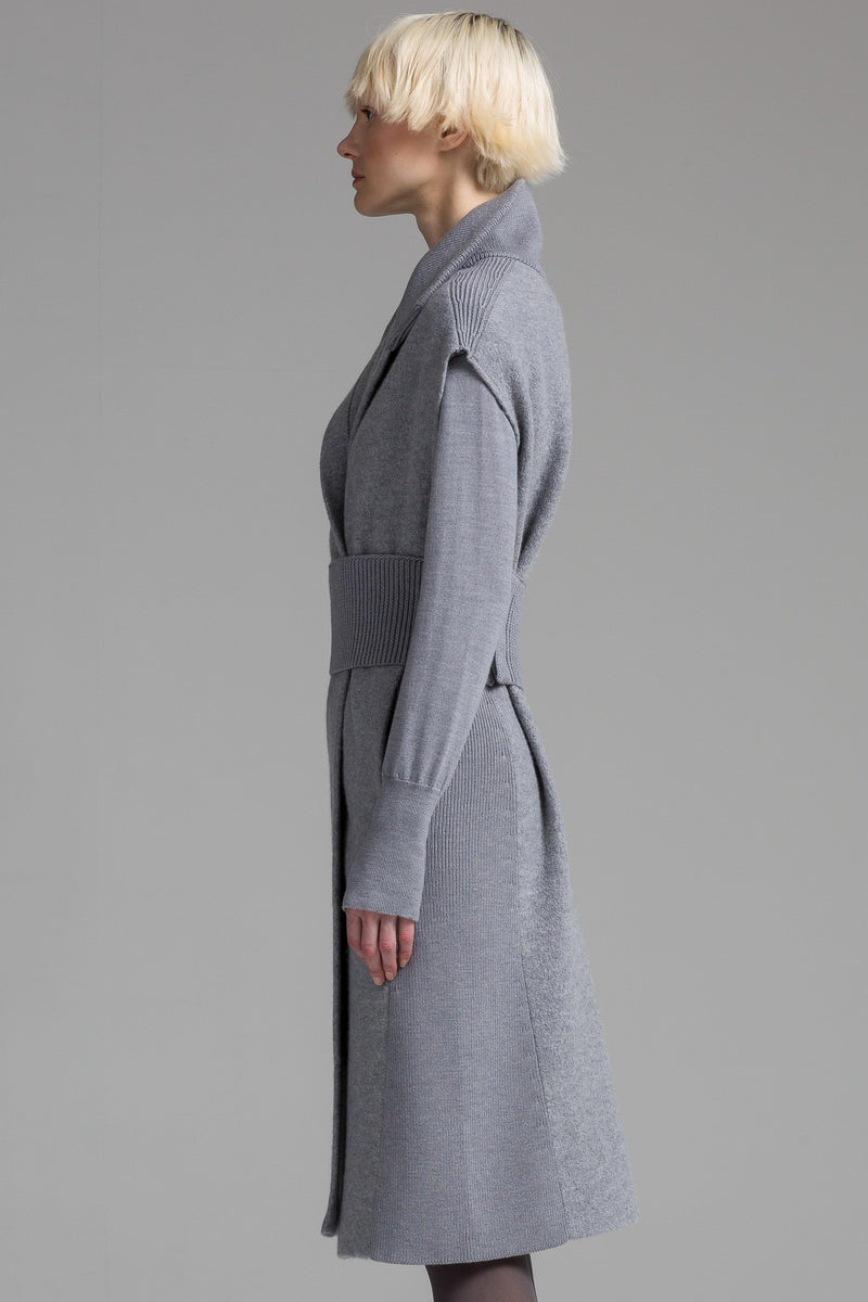 Boiled Wool Lounge Cardigan | Light Grey Melange