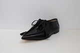 Pointed Loafer with Tie | Black