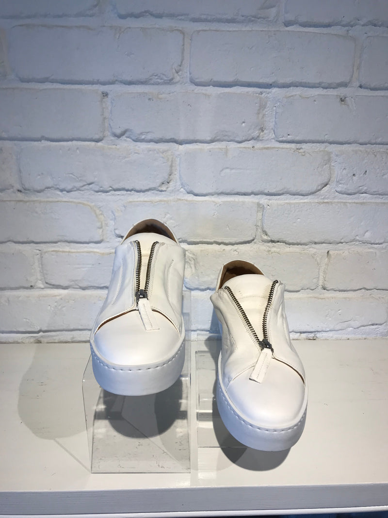 Lounge White Zip Sneaker