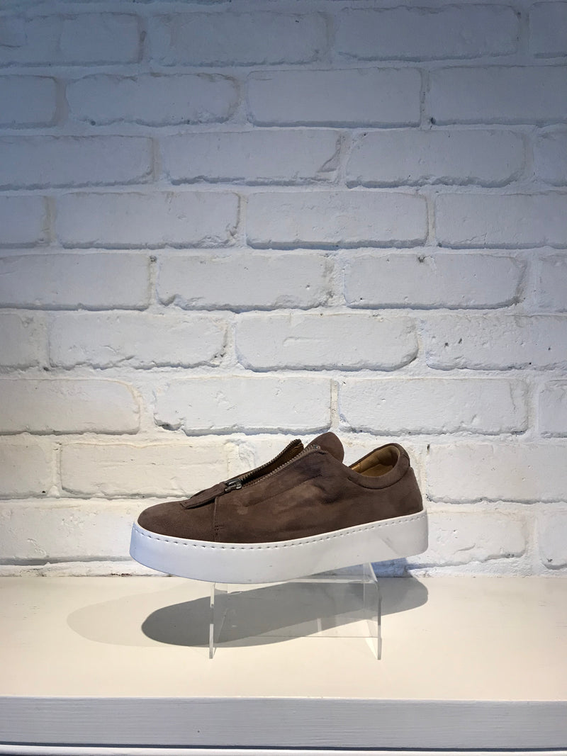 Leather Sneaker | Camoscio Nude