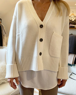Perfect Cashmere Cardigan | Ivory