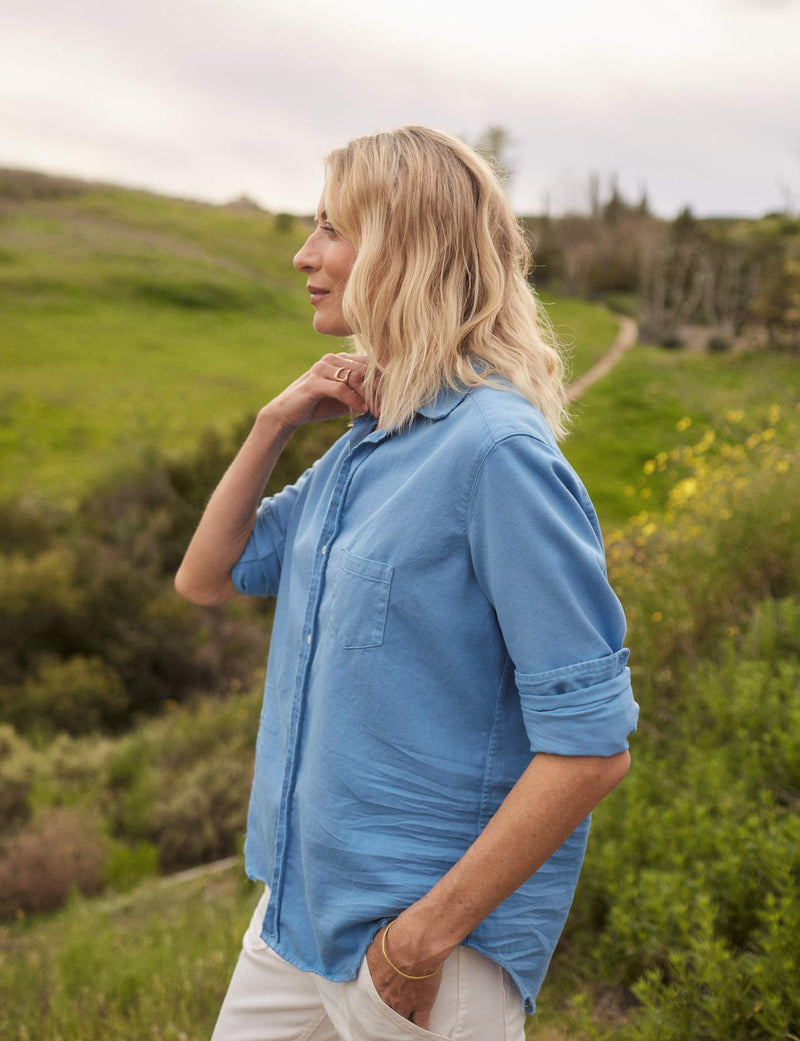 Eileen Famous Denim Button Down | Ocean