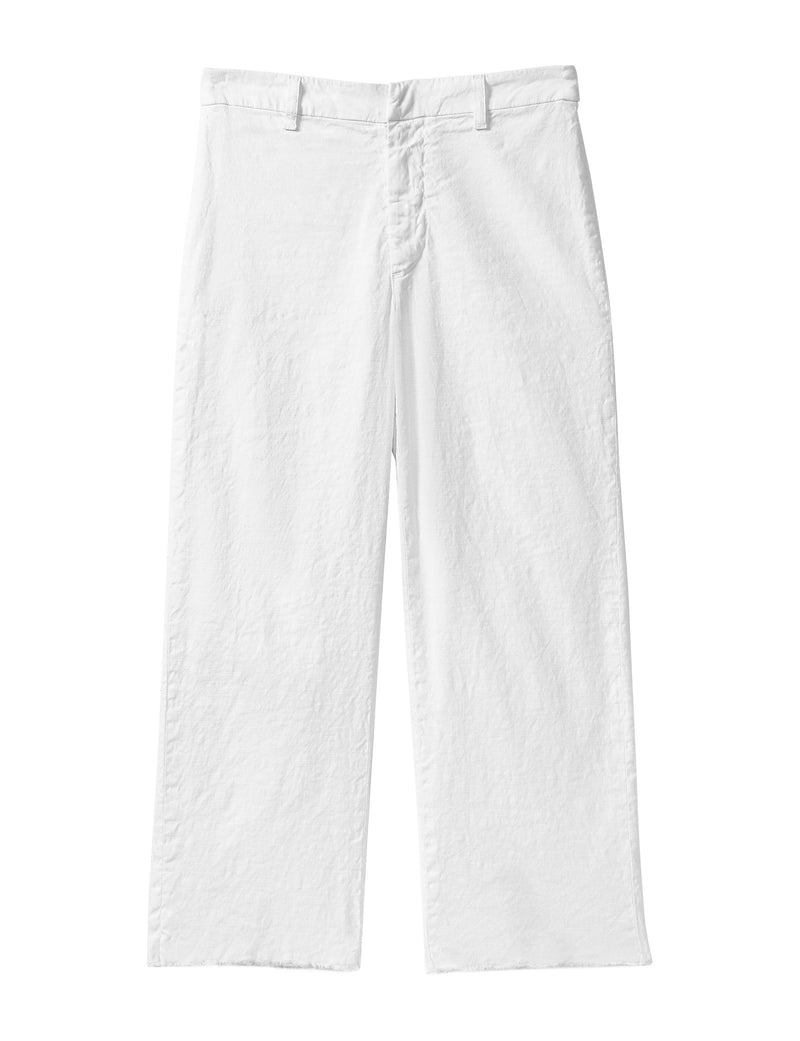 Kinsale Performance Linen Pant | White