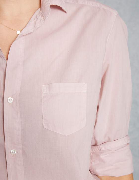 Eileen Light Poplin Button Down | Dusty Pink
