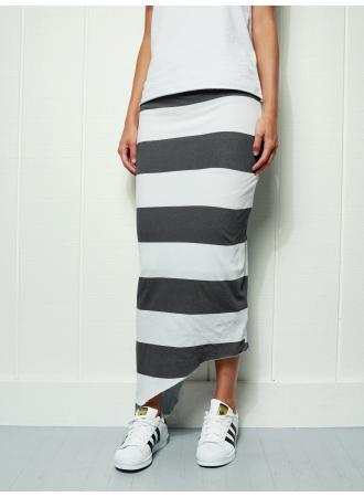 Long Asymmetric Skirt | Carbon Rugby
