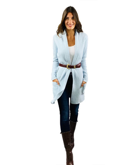 Lily Travel Coat | Frost Blue