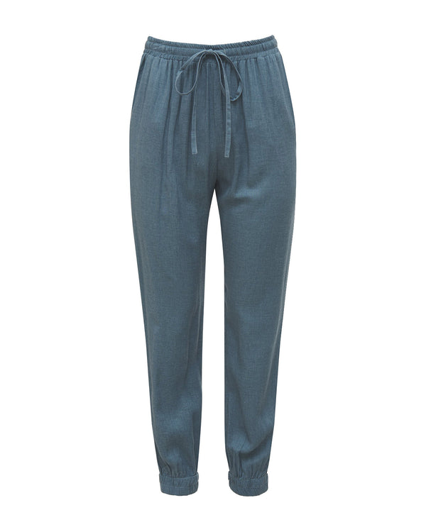 Linen Pant | Denim Blue