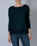 Cashmere Long Sleeve Crew Neck Sweater | Marine