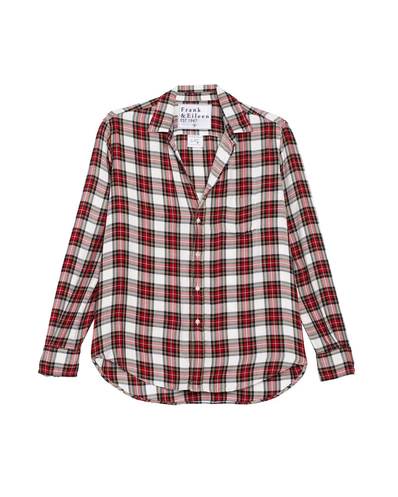 Eileen Modal Button Down | Cream Plaid