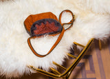 Bizi Accordian Shearling Bag | Ochre