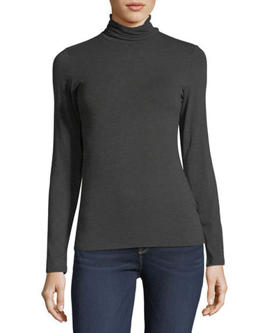Soft Touch Basic Turtleneck | Anthracite