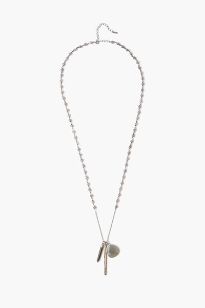 Sterling Silver Labradorite Charm Layering Necklace