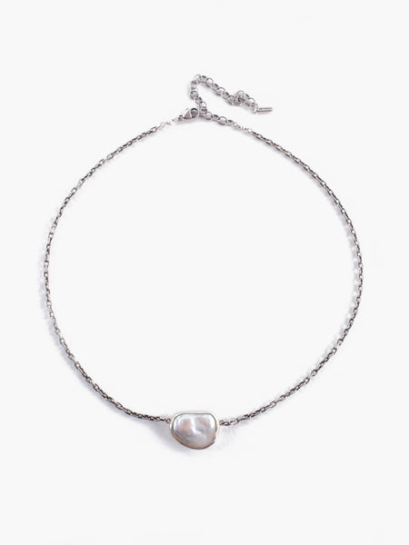 Small Grey Pearl Pendant Necklace