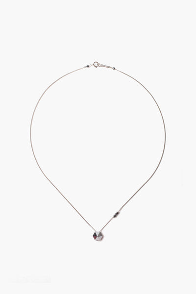Light Chrome Leather Tassel Necklace
