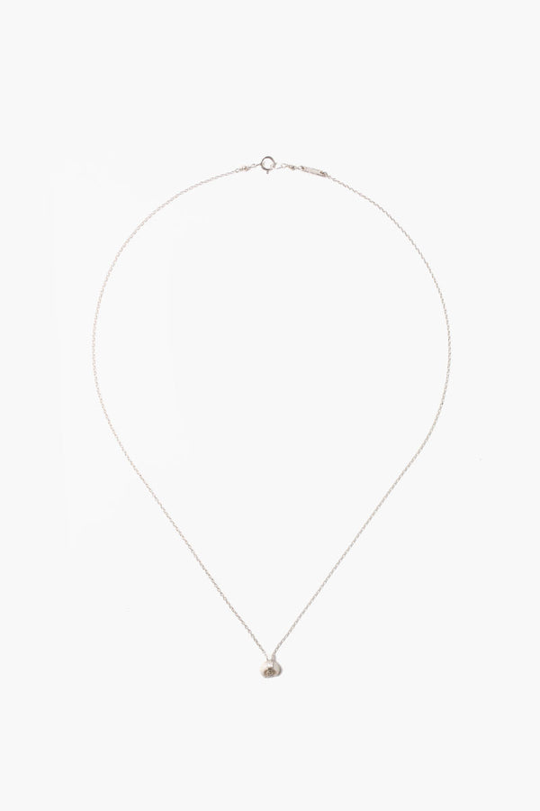 Petite White Bone Necklace With Champagne Diamond