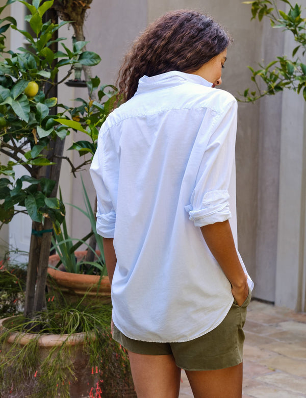 Eileen Cotton Voile Button Down | Shirting Blue