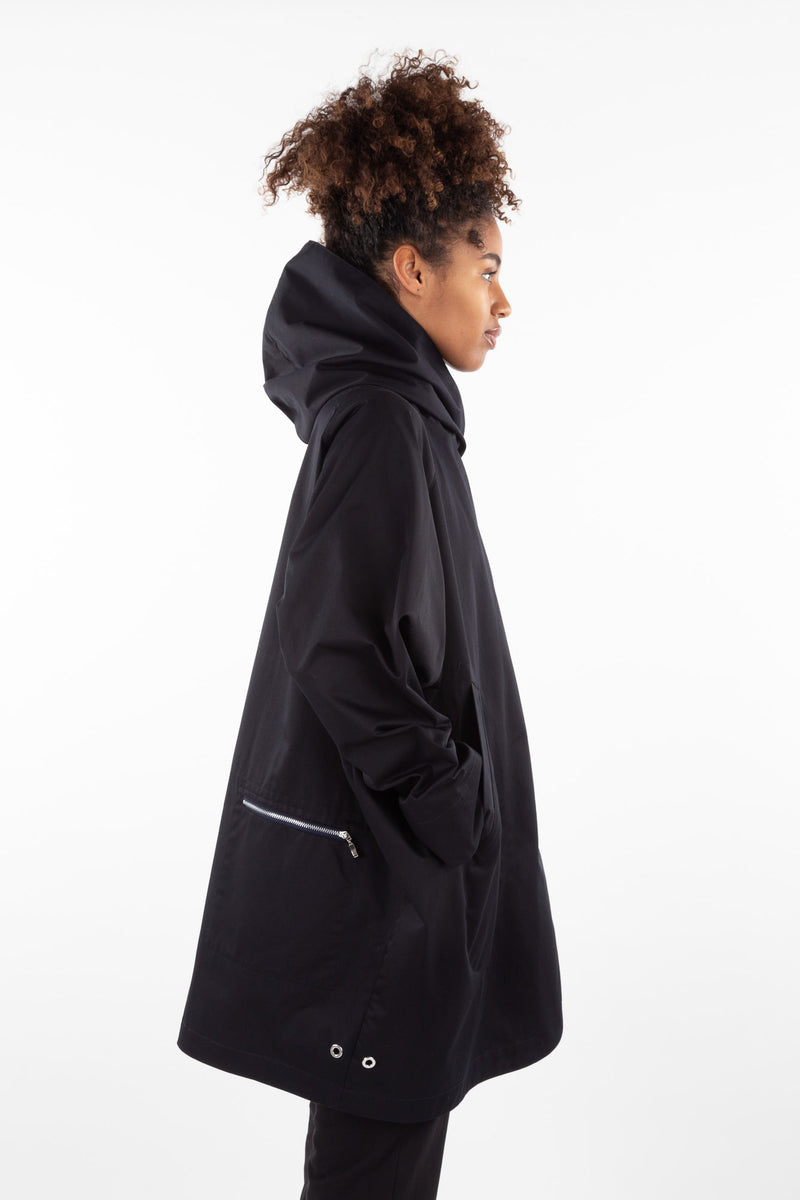 Paola Coat | Navy & Black