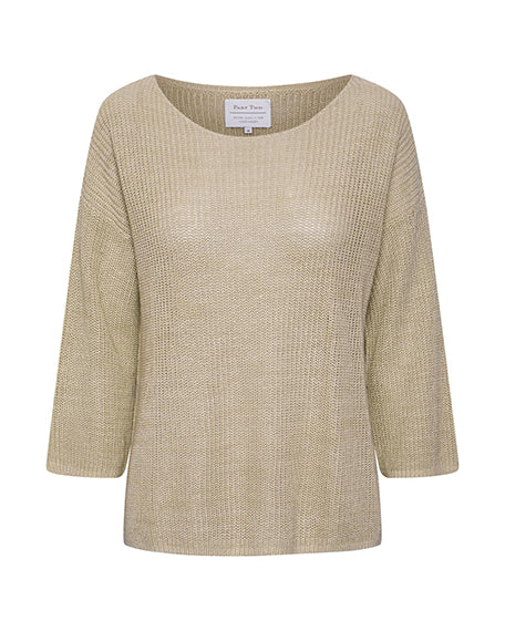 Linen Boatneck Sweater