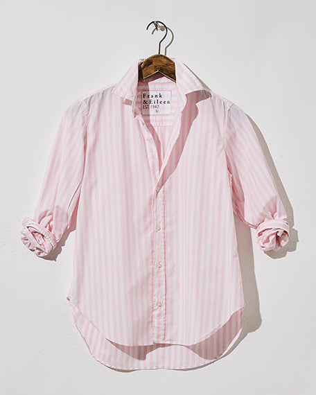 Frank Button Down | Pink & White Stripe