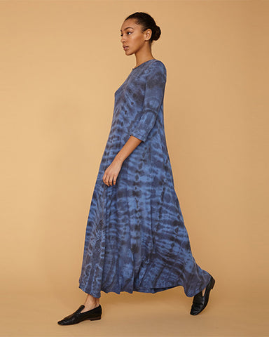 1/2 Sleeve Drama Maxi Dress | Aqua