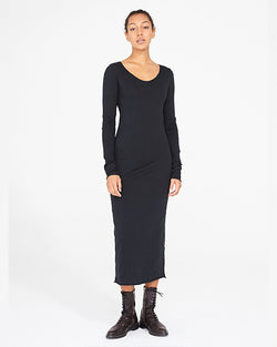 Fitted Long Sleeve Dress | Black