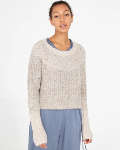Two Tone Alpaca Sweater | Oatmeal