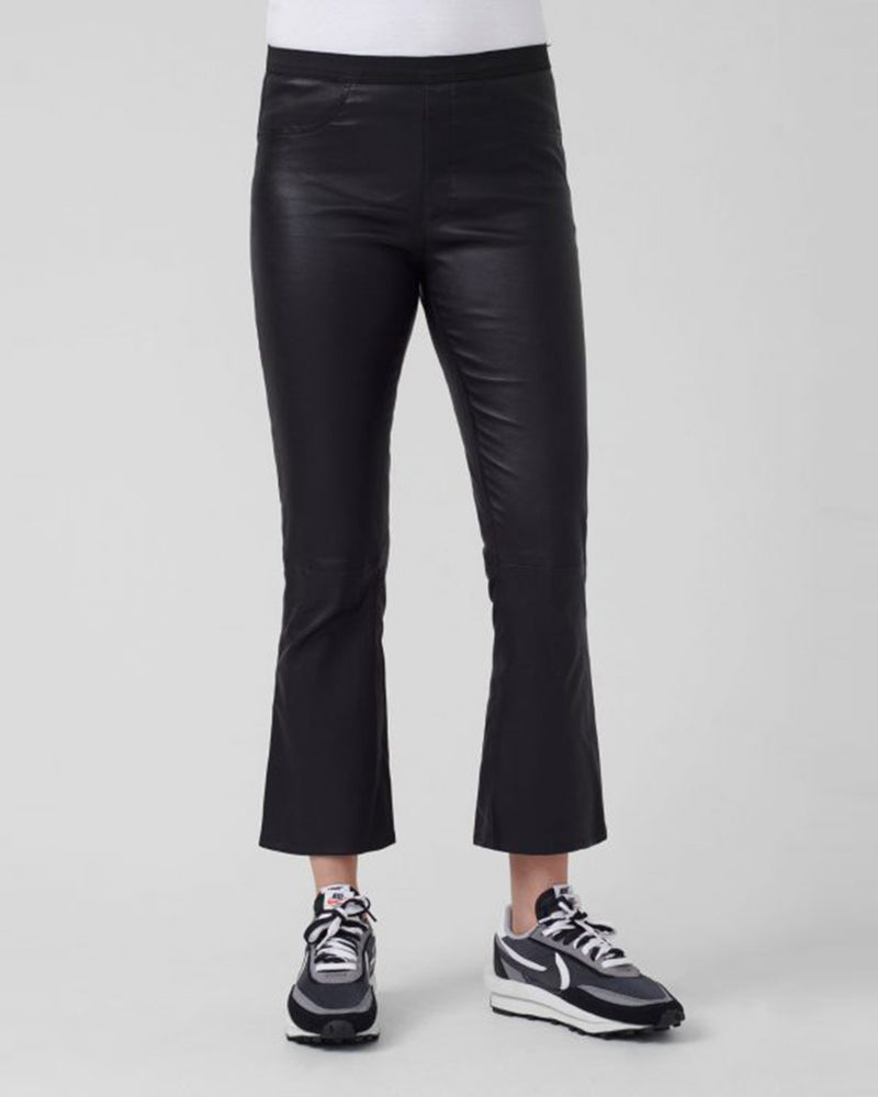 Rey Leather Pant | Black