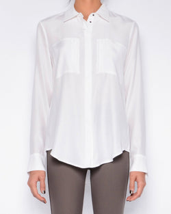 Rossmore Silk Blouse | White