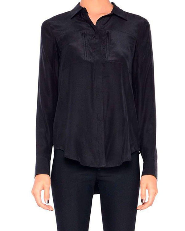 Rossmore Silk Blouse | Black