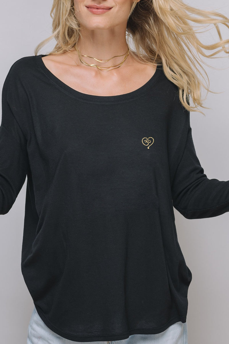 Rumi Long Sleeve Tee | Black