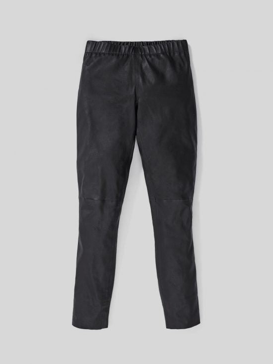 Ricky Leather Pant | Black