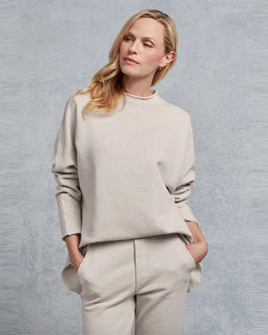 Funnel Neck Sweatshirt | Irish Oatmeal