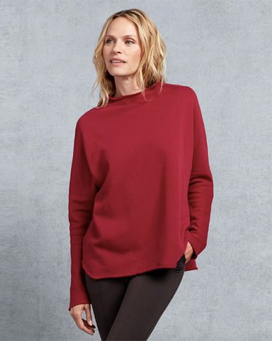 Funnel Neck Sweatshirt | Bordeaux