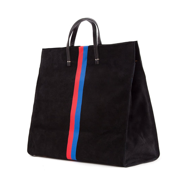Simple Tote | Black Stripe