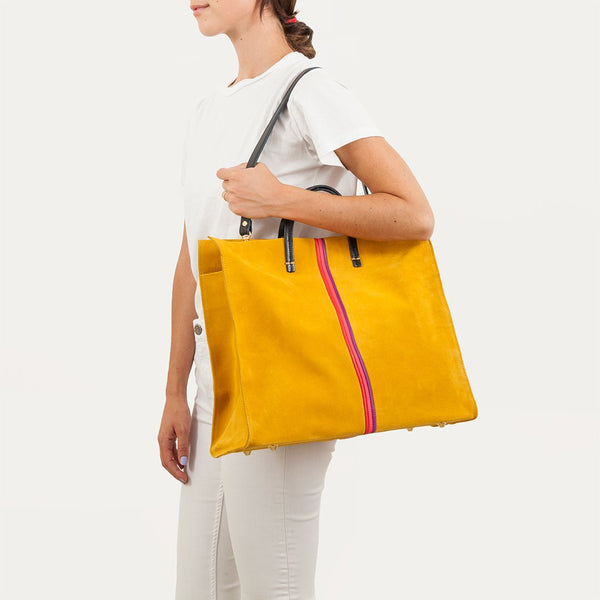 Simple Tote with Stripe | Marigold