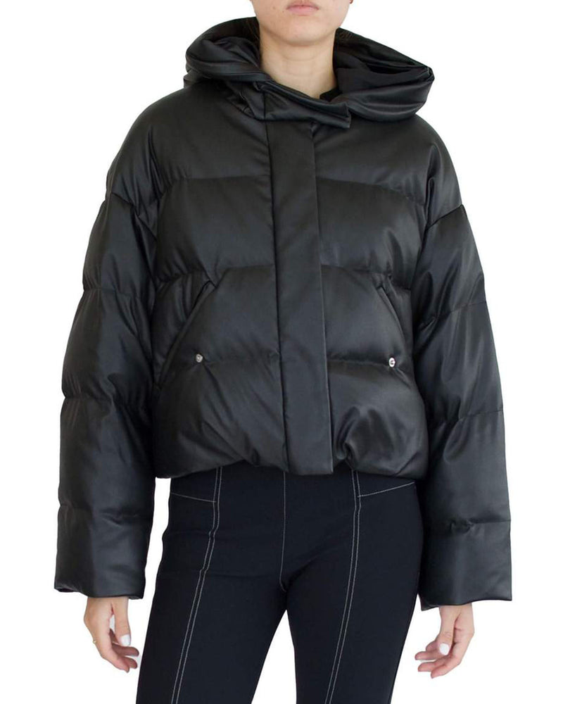 Sparrow Vegan Leather Puffer Jacket