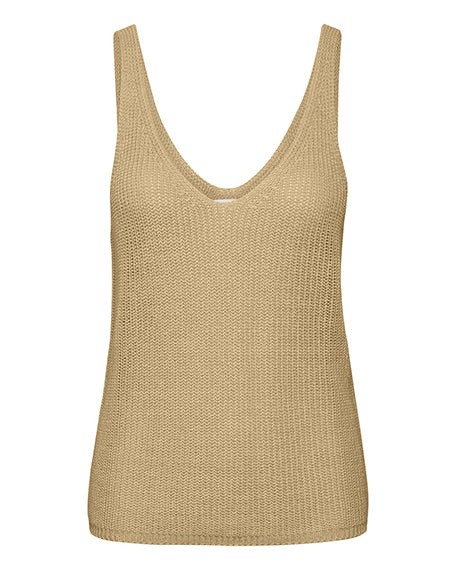 Linen V Neck Cami Sweater