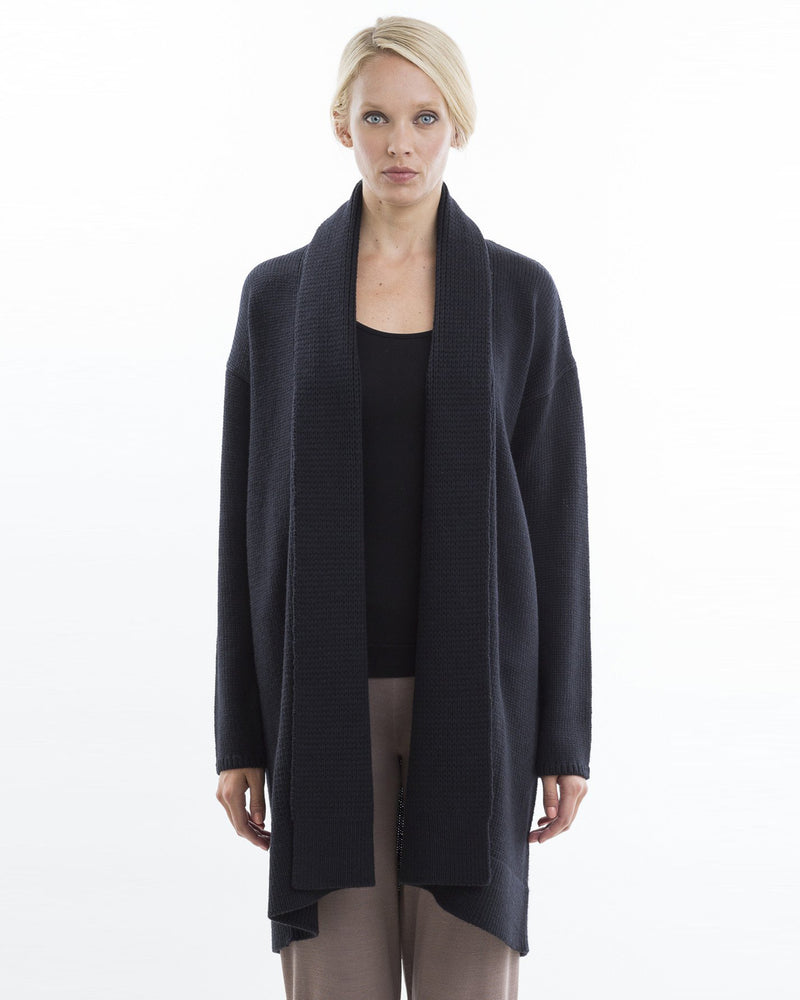 Air Spun Sweater Coat | Black