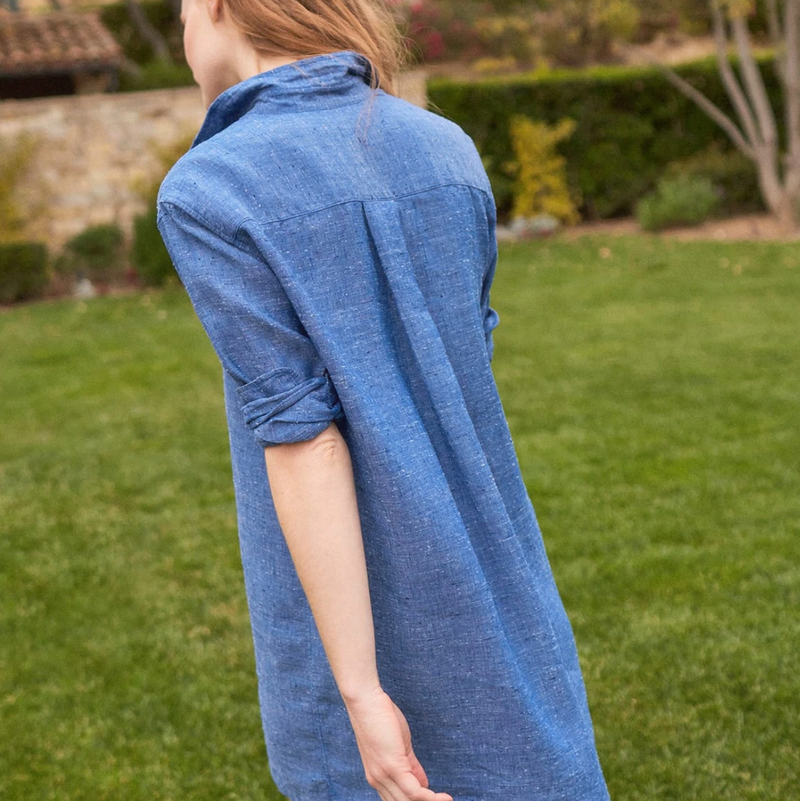 Hunter Linen Shirtdress | Blue
